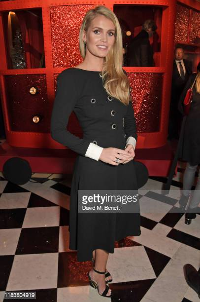 Lady Kitty Spencer attends the launch of the Claridge's Christmas Tree 2019 designed by Christian Louboutin at Claridge's Hotel on November 21 2019...