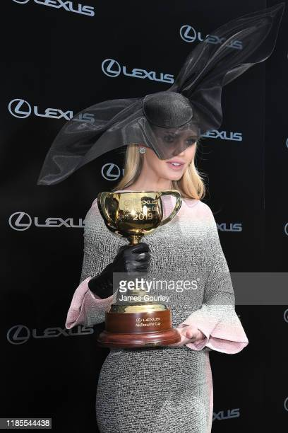 Lady Kitty Spencer attends the Melbourne Cup Day at Flemington Racecourse on November 05 2019 in Melbourne Australia