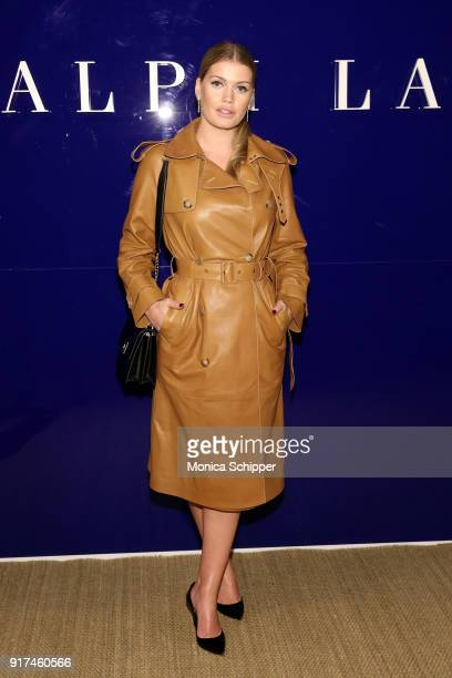 Lady Kitty Spencer attends the Ralph Lauren fashion show during New York Fashion Week The Shows on February 12 2018 in New York City
