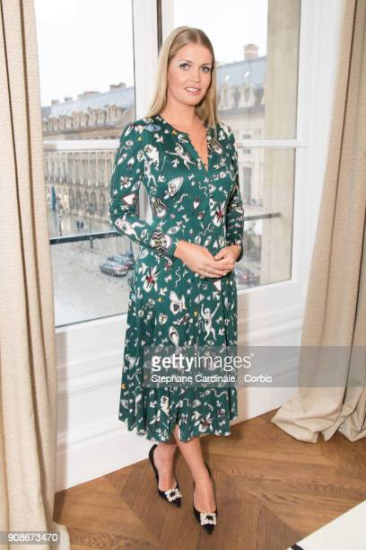 Lady Kitty Spencer attends the Schiaparelli Haute Couture Spring Summer 2018 show as part of Paris Fashion Week January 22 2018 in Paris France