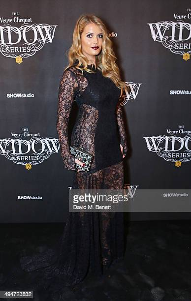 Lady Kitty Spencer attends the Veuve Clicquot Widow Series 'A Beautiful Darkness' curated by Nick Knight and SHOWstudio on October 28 2015 in London...