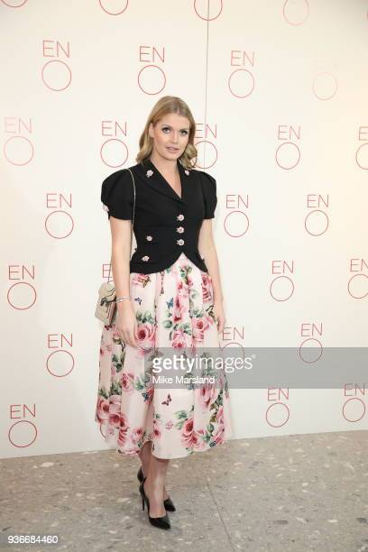 Lady Kitty Spencer attends the VIP Performance of La Traviata at London Coliseum on March 22 2018 in London England