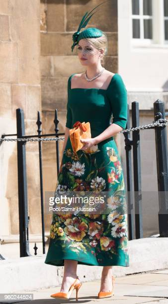 Lady Kitty Spencer attends the wedding of Prince Harry to Ms Meghan Markle at St George's Chapel Windsor Castle on May 19 2018 in Windsor England...