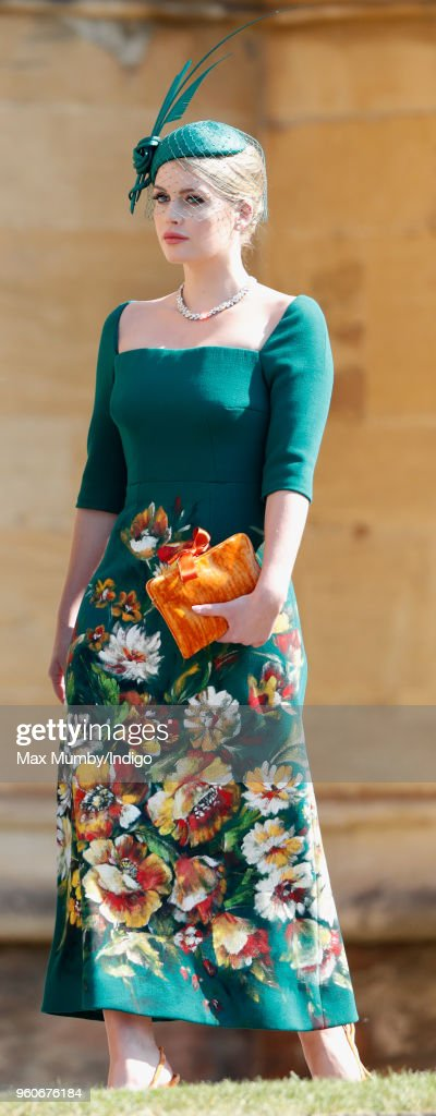 Lady Kitty Spencer attends the wedding of Prince Harry to Ms Meghan Markle at St George's Chapel, Windsor Castle on May 19, 2018 in Windsor, England. Prince Henry Charles Albert David of Wales marries Ms. Meghan Markle in a service at St George's Chapel inside the grounds of Windsor Castle. Among the guests were 2200 members of the public, the royal family and Ms. Markle's Mother Doria Ragland.