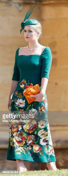 Lady Kitty Spencer attends the wedding of Prince Harry to Ms Meghan Markle at St George's Chapel, Windsor Castle on May 19, 2018 in Windsor, England....