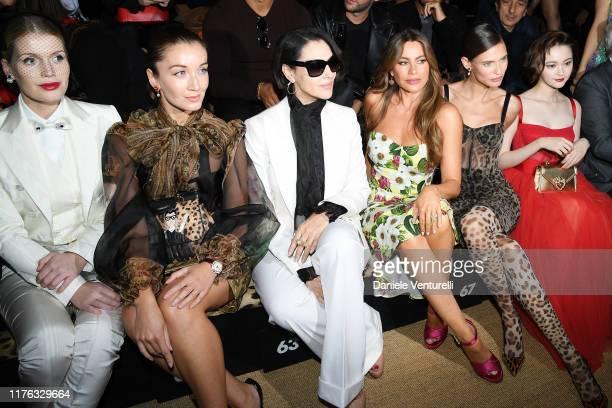 Lady Kitty Spencer, Carly Paoli, Monica Belluci, Sofia Vergara, Bianca Balti and Tina Tamashiro attend Dolce & Gabbana - Front Row - Milan Fashion...