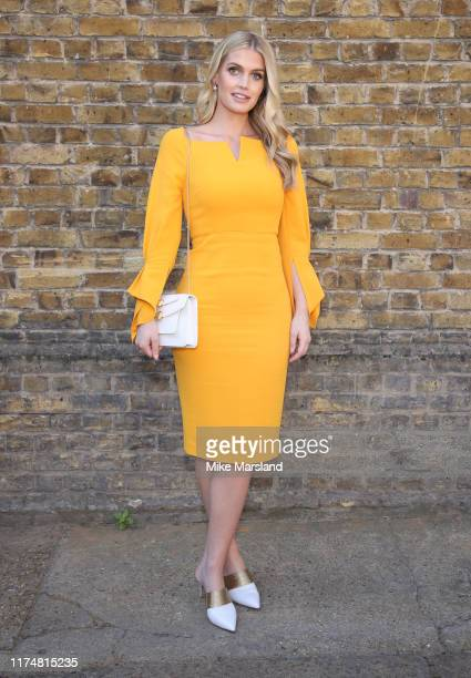 Lady Kitty Spencer during at the Roland Mouret show at London Fashion Week September 2019 on September 15 2019 in London England