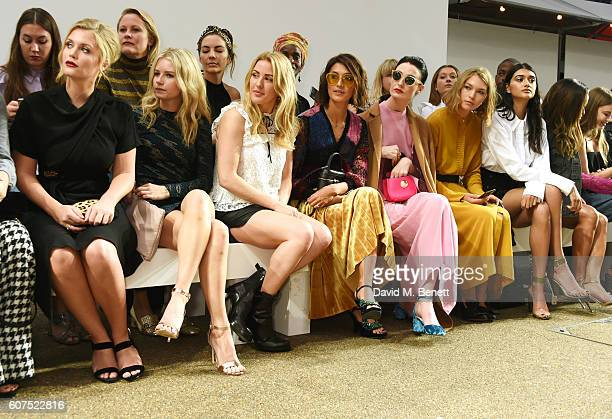 Lady Kitty Spencer Lottie Moss Ellie Goulding Hikari Yokoyama Erin O'Connor Arizona Muse Neelam Gill Serayah McNeill and Xenia Tchoumi attend the...