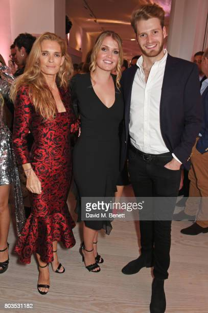 Lady Kitty Spencer mother Victoria Aitken and brother Louis Spencer Viscount Althorp attend Tatler's English Roses 2017 in association with Michael...