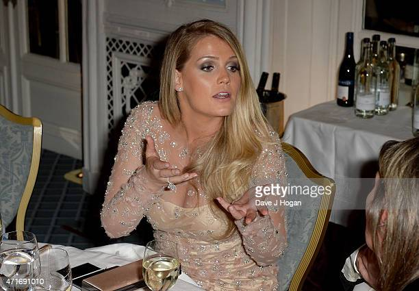 Lady Kitty Spencer niece of Princess Diana attends the Downton Abbey Ball in aid of Centrepoint at The Savoy Hotel on April 30 2015 in London England