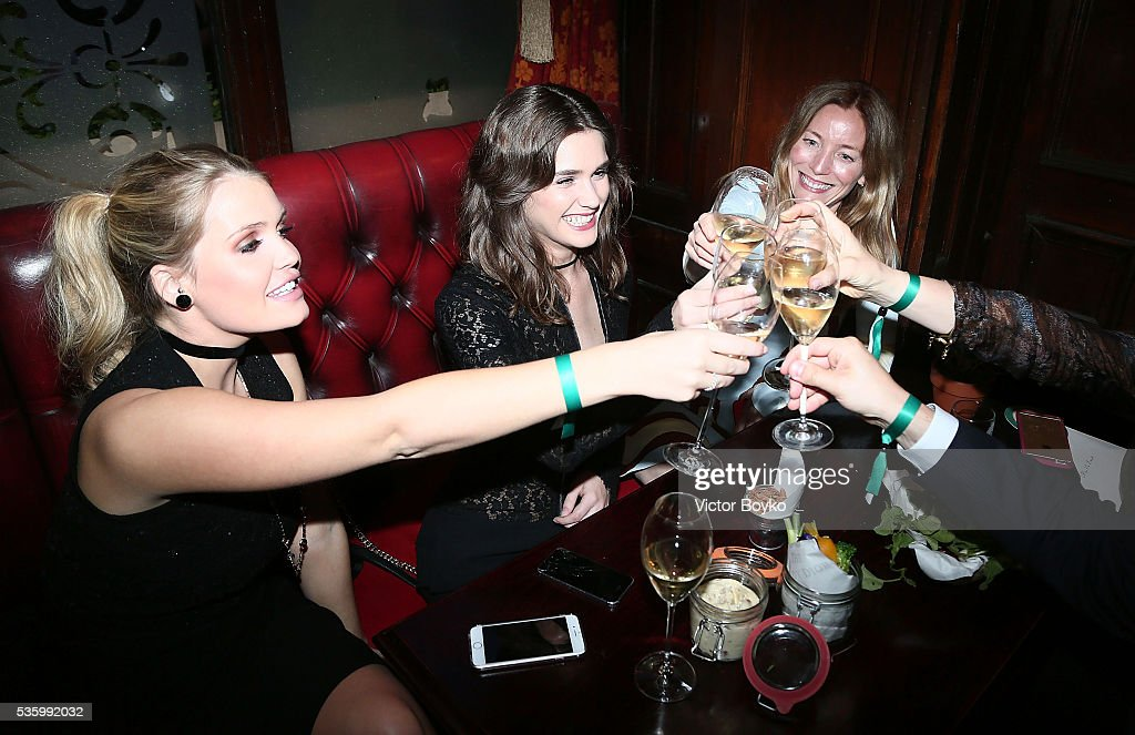 Lady Kitty Spencer, Sai Bennett and Lucie de la Falaise attend the Dior Welcome Dinner at the Lady Dior Pub to celebrate the Cruise Collection 2017 on May 30, 2016 in London, England.