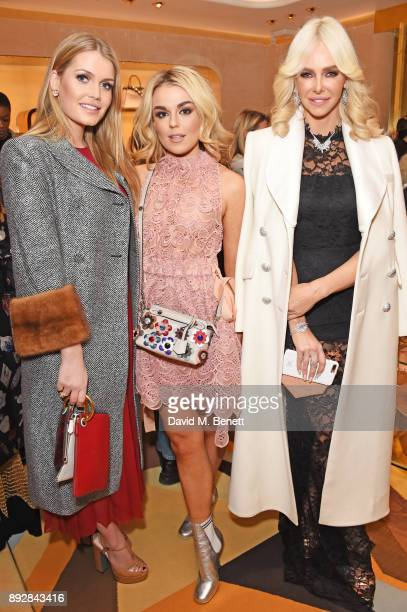 Lady Kitty Spencer Tallia Storm and Amanda Cronin attend the FENDI Sloane Street boutique opening on December 14 2017 in London England