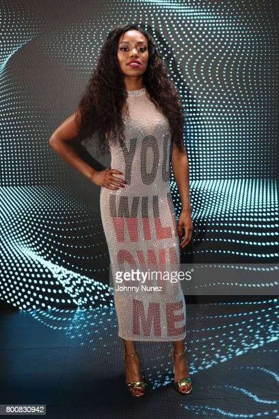 Lady Leshurr at the InstaBooth at the 2017 BET Awards at Microsoft Square on June 25 2017 in Los Angeles California