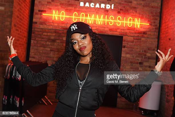Lady Leshurr attends The Dean Collection X Bacardi Present No Commission London on December 9 2016 in London England