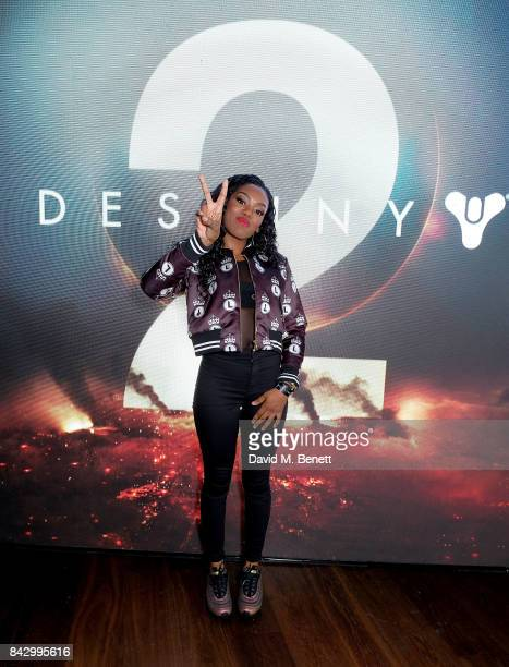 Lady Leshurr attends the Destiny 2 launch event on PlayStation 4 Available from Wednesday 6th September 2017 #Destiny2 at Mondrian Hotel on September...