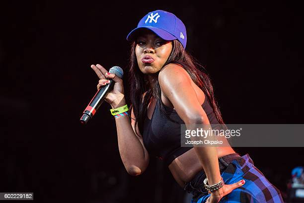 Lady Leshurr perform on Day 3 of Bestival at Robin Hill Country Park on September 10 2016 in Newport Isle of Wight