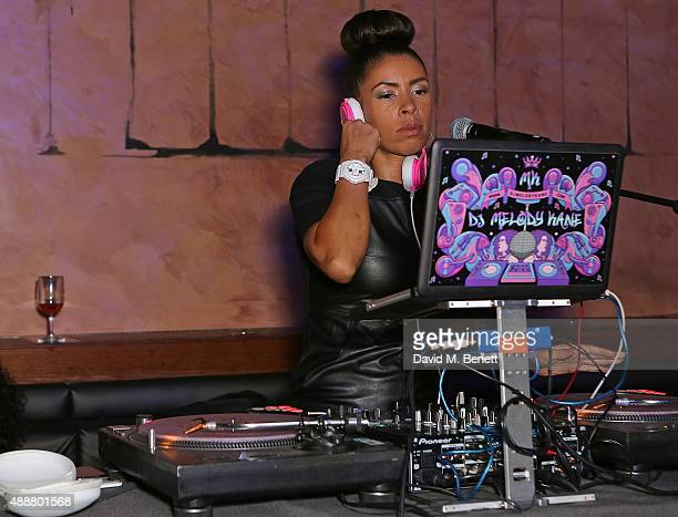 Lady Leshurr performs at the Antipodium and Double Trouble ANTI party at Tape London on September 17 2015 in London England