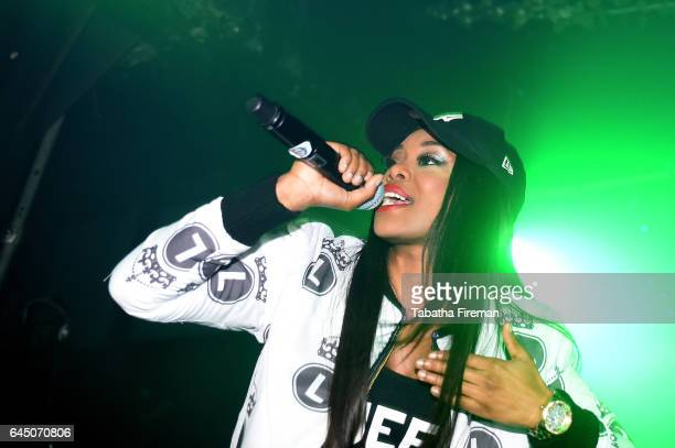 Lady Leshurr performs at The Arch on February 24 2017 in Brighton England