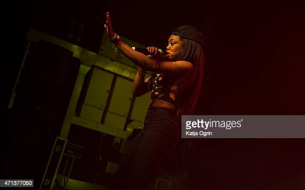Lady Leshurr performs live on stage at O2 Academy Birmingham on April 27 2015 in Birmingham United Kingdom