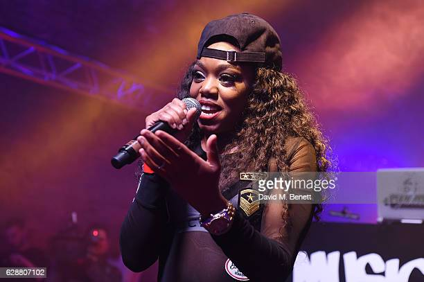 Lady Leshurr performs on stage during The Dean Collection X Bacardi Present No Commission London on December 9 2016 in London England