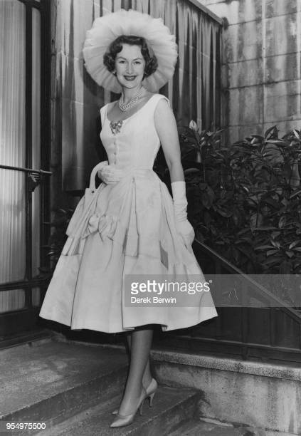 Lady Lewisham born Raine McCorquodale the wife of Gerald Legge Viscount Lewisham arrives at the Dorchester Hotel in London for the 305th Foyles...