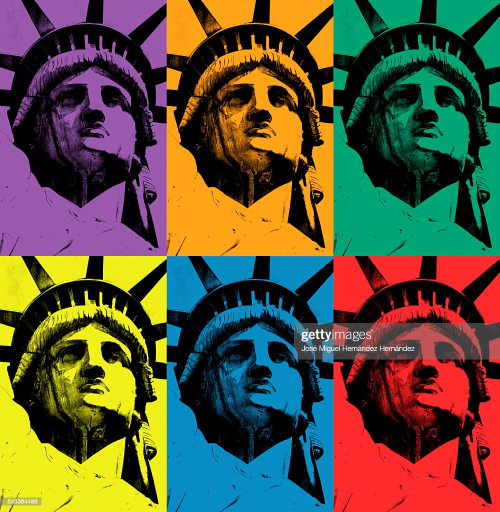 Lady Liberty (triads of primary and secondary colors) : Stockfoto