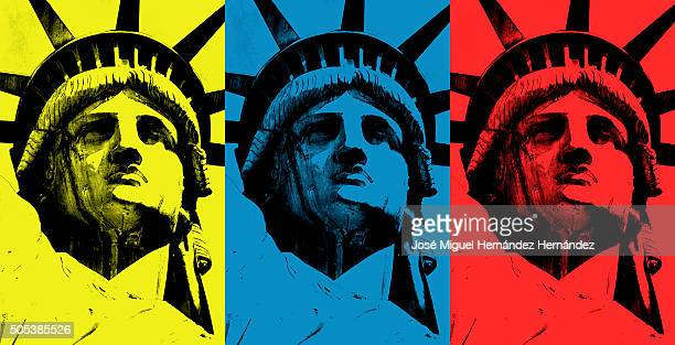 Lady Liberty (triad of primary colors)