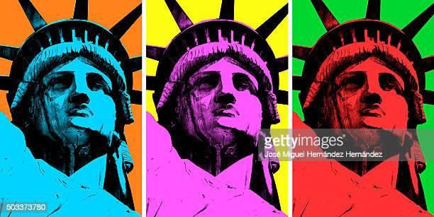Lady Liberty Pop Art