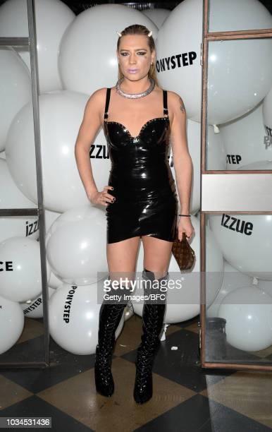 Lady Lloyd attends the Izzue X Ponystep LFW Party during London Fashion Week September 2018 on September 16 2018 in London England