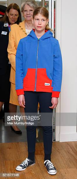 Lady Louise Windsor accompanies Sophie Countess of Wessex to open the newly refurbished Girlguiding head office on April 16 2016 in London England