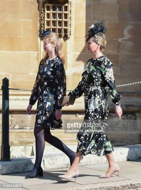 Lady Louise Windsor and Sophie Countess of Wessex attend the Easter Sunday service at St George's Chapel on April 21 2019 in Windsor England