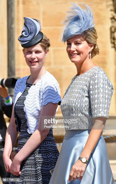 Lady Louise Windsor and Sophie, Countess of Wessex attend the wedding of Prince Harry to Ms Meghan Markle at St George's Chapel, Windsor Castle on...