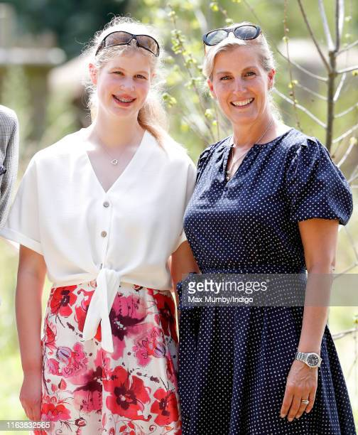 Lady Louise Windsor and Sophie, Countess of Wessex visit The Wild Place Project at Bristol Zoo on July 23, 2019 in Bristol, England.