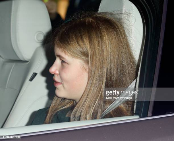Lady Louise Windsor attends a Christmas lunch for members of the Royal Family hosted by Queen Elizabeth II at Buckingham Palace on December 18 2019...