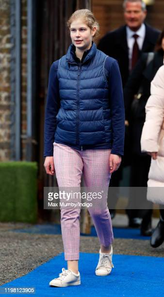 Lady Louise Windsor attends an England Hockey team training session at Bisham Abbey National Sports Centre on January 7 2020 in Marlow England