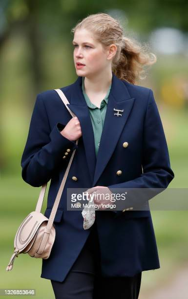 Lady Louise Windsor attends day 3 of the Royal Windsor Horse Show in Home Park, Windsor Castle on July 3, 2021 in Windsor, England.
