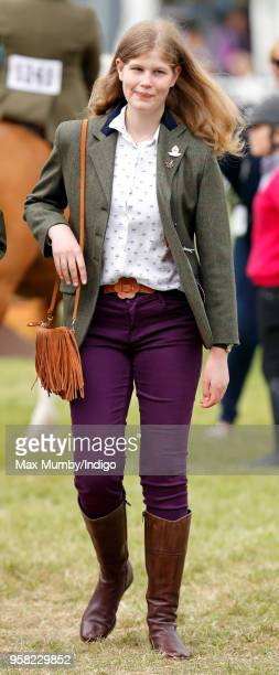 Lady Louise Windsor attends day 4 of the Royal Windsor Horse Show in Home Park on May 12, 2018 in Windsor, England. This year marks the 75th...
