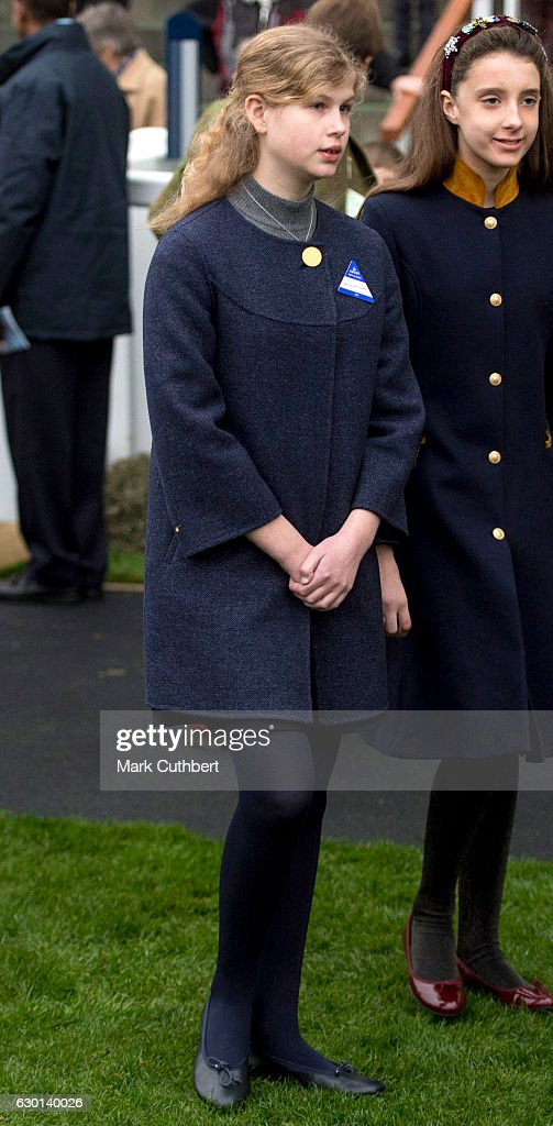Lady Louise Windsor attends the Christmas Racing Weekend at Ascot Racecourse on December 17, 2016 in Ascot, England.