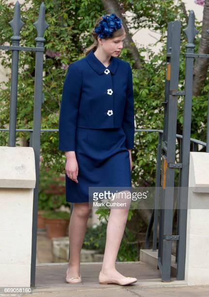 Lady Louise Windsor attends the Easter Day service at St George's Chapel on April 16 2017 in Windsor England