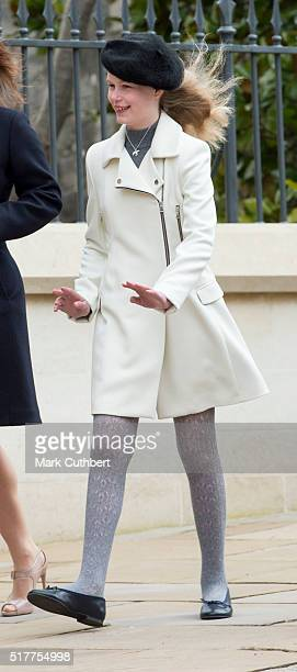 Lady Louise Windsor attends the Easter Sunday Service at St George's Chapel on March 27 2016 in Windsor England