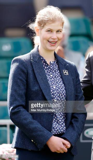 Lady Louise Windsor attends The Land Rover Burghley Horse Trials at Burghley House on September 8, 2019 in Stamford, England.