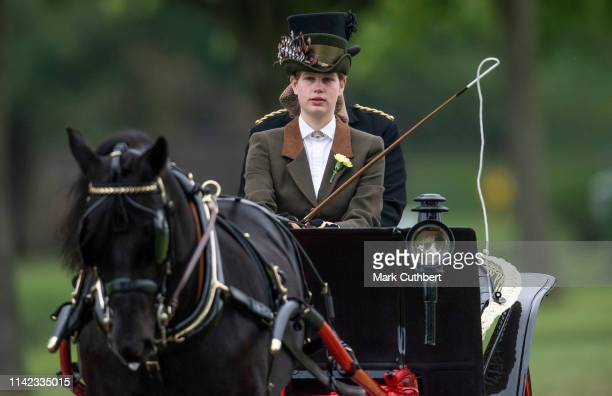 Lady Louise Windsor competes in the Private Driving Class during the Royal Windsor Horse Show 2019 on May 9, 2019 in Windsor, England.