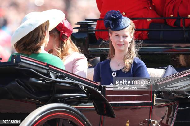 Lady Louise Windsor during Trooping The Colour on the Mall on June 9, 2018 in London, England. The annual ceremony involving over 1400 guardsmen and...