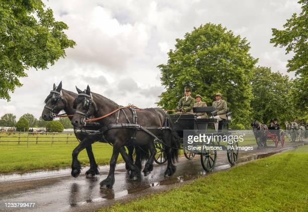 Lady Louise Windsor participates in the Champagne Laurent-Perrier Meet of the British Driving Society at the Royal Windsor Horse Show, Windsor....