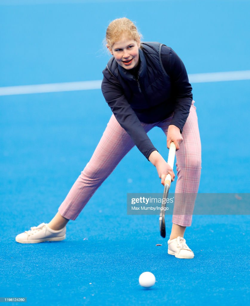 The Countess Of Wessex Attends A Hockey Training Session At Bisham Abbey National Sports Centre : News Photo