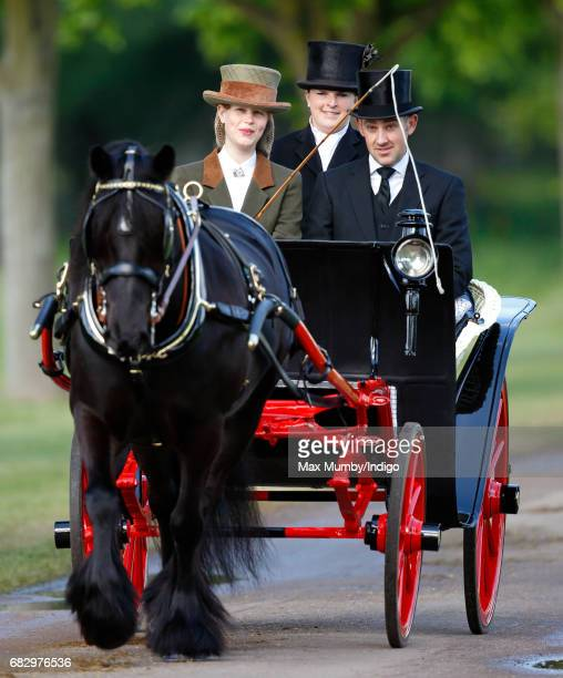 Lady Louise Windsor seen carriage driving as she takes part in The Champagne LaurentPerrier Meet of the British Driving Society on day 5 of the Royal...