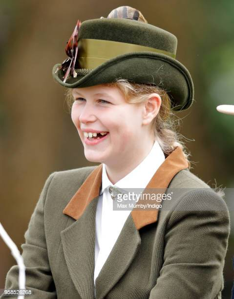 Lady Louise Windsor seen carriage driving as she takes part in The Champagne Laurent-Perrier Meet of the British Driving Society on day 5 of the...