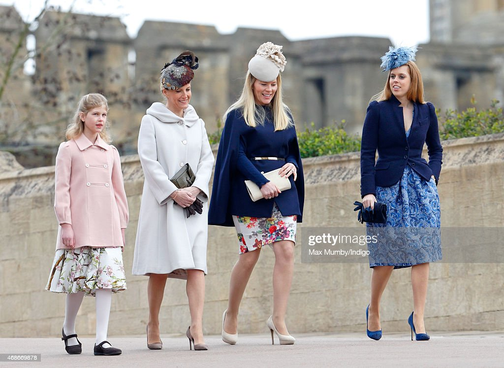 Royal Family Attend Easter Sunday Service At Windsor Castle : News Photo