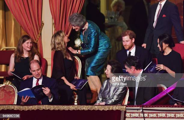 Lady Louise Windsor Sophie Countess of Wessex Prince William Duke of Cambridge Princess Anne Princess Royal Vice Admiral Sir Timothy Laurence Prince...