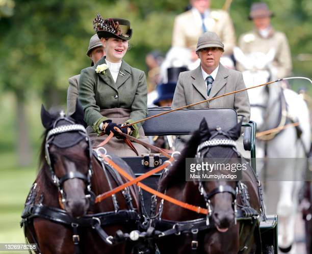 Lady Louise Windsor takes part in 'The Champagne Laurent-Perrier Meet of The British Driving Society' on day 4 of the Royal Windsor Horse Show in...